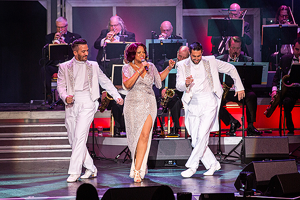 Angela Teek Alejandro Domingo and Eric Michael Morgan at The Legends in Concert Theater inside Tropicana Las Vegas Photo Credit Key Lime Photography