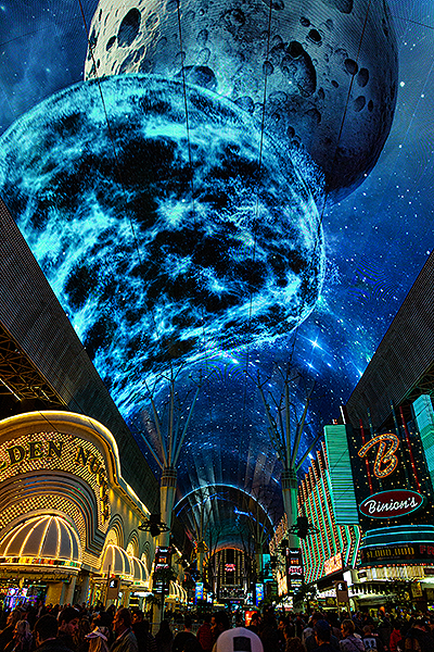 Fremont Street Experience Debuts Entirely New Collection of 3D Graphics on Upgraded Viva Vision Canopy credit Black Raven Films for Fremont Street Experience