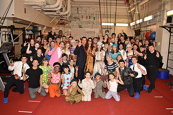 Matthew McConaughey and Camila Alves Backstage with the Cast at LOVE by Cirque du Soleil Jan. 18 2020