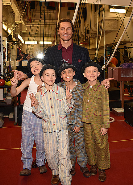 Matthew McConaughey with the Kids of Liverpool at LOVE by Cirque du Soleil Jan. 18 2020