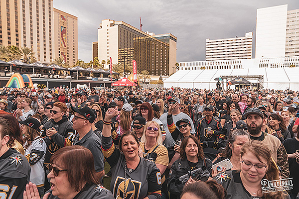 Fans Gather at Downtown Las Vegas Events Center for the Third Annual VGK Fan Fest - Photo credit: Mike Xavier/Renowned Photos