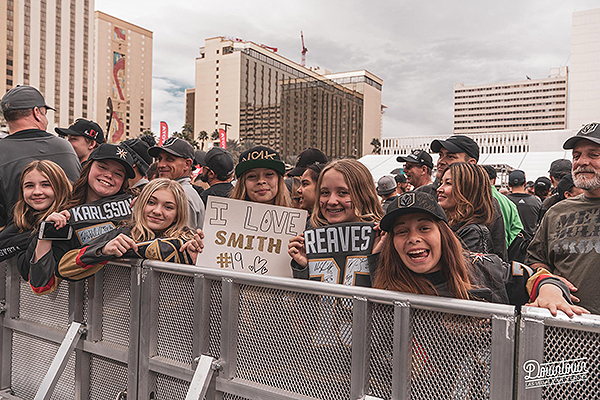 Fans Show Off VGK Signs at Third Annual Fan Fest Event