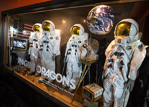 12.30.13 Imagine Dragons new memorabilia case located inside Hard Rock Hotel Casino Las Vegas