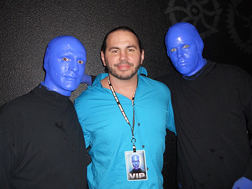 1.10.14 Matt Hardy at Blue Man Group inside Monte Carlo Resort and Casino