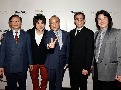 Director An Zhao center and PANDA creative principals at world premiere of PANDA