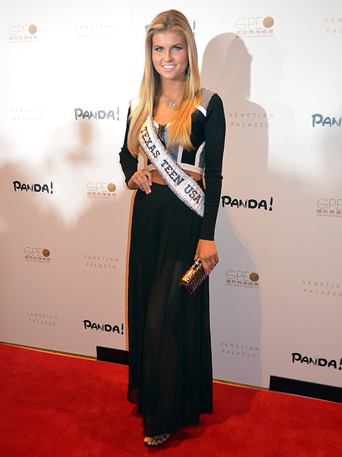 Miss Texas Teen USA Kellie Stewart Panda 2014 Palazzo Hotel and Casino Las Vegas 30744