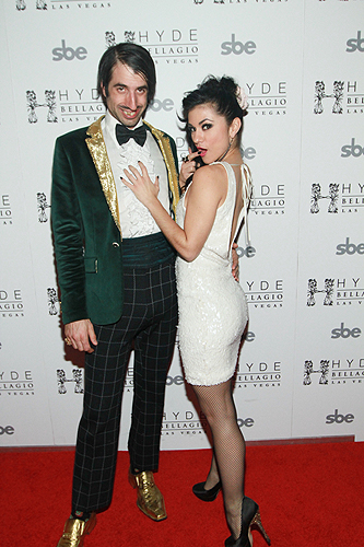 ABSINTHEs The Gazillionaire and Melody Sweets on Red Carpet at Hyde Bellagio Las Vegas 1.29.13