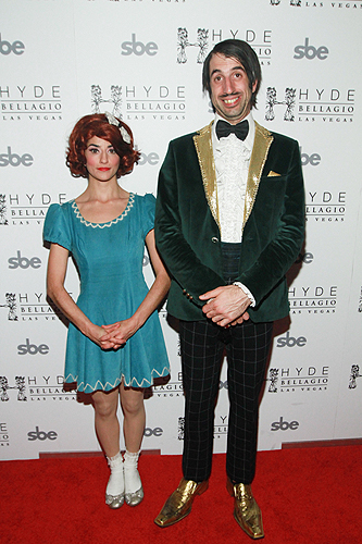 ABSINTHEs The Gazillionaire and Penny Pibbets on Red Carpet at Hyde Bellagio Las Vegas 1.29.13