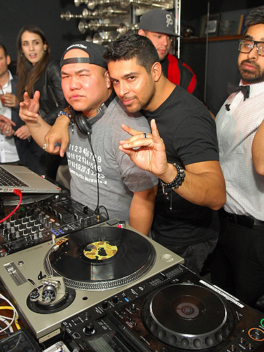 Wilmer Valderrama in DJ booth at Hyde Bellagio Las Vegas 2.2.13