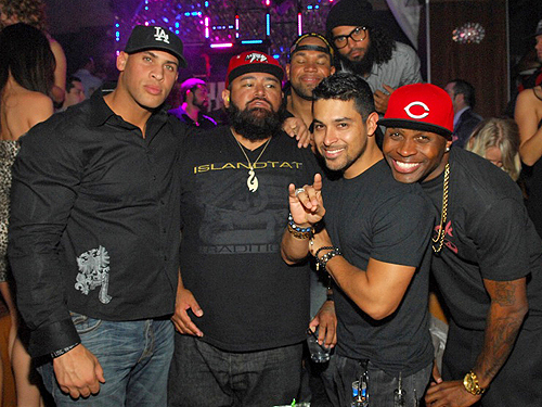 Wilmer Valderrama parties with friends at Hyde Bellagio Las Vegas 2.2.13