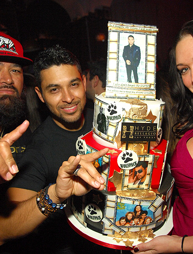 Wilmer Valderrama with birthday cake at Hyde Bellagio Las Vegas 2.2.13