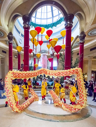 Dragon Dance in The Palazzo Lobby