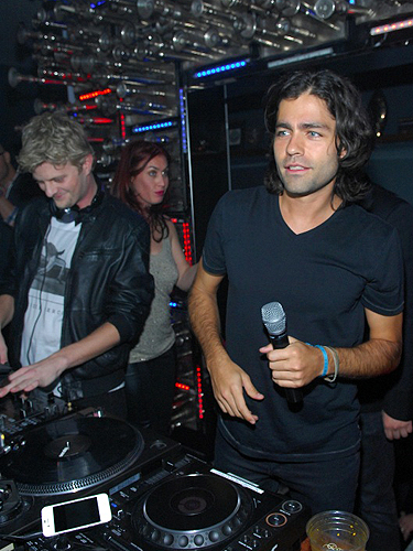 Adrian Grenier in the DJ booth at Hyde Bellagio Las Vegas 2.15.13