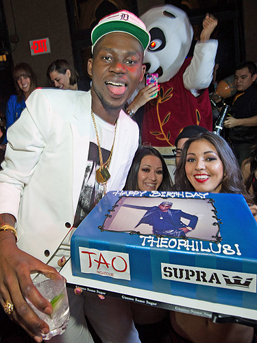 Theophilus London birthday cake SUPRA TAO