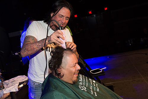 3.2.13 Isaac Big Mex Andrade said goodbye to his locks at Rock N Shave at Vinyl Benefitting St Baldricks Foundation featuring Sin City Sinners credit Erik Kabik