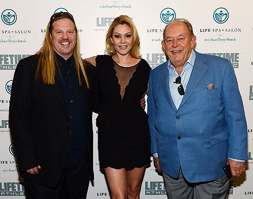 Michael Boychuck Shanna Moakler and Robin Leach at LifeSpa Salon