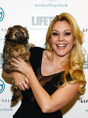 Shanna Moakler Posing With Charlie the Dog