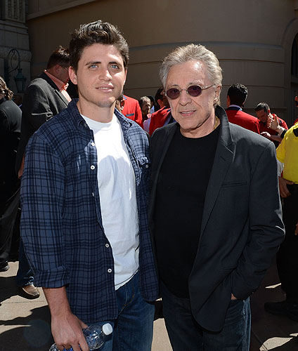 Frankie Valli and son Francesco Valli  Valli at Star Ceremony Credit Denise Truscello