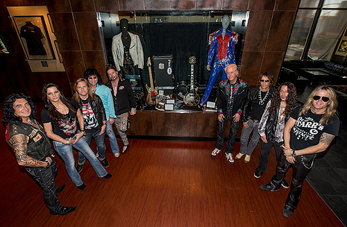RAIDING THE ROCK VAULT Is Honored with Case Dedication at Hard Rock Cafe on the Strip 2 Credit Erik Kabik