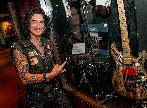 Robin McAuley from RAIDING THE ROCK VAULT with Black Suit Worn During This Is My Heart Video Credit Erik Kabik