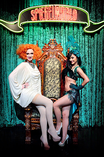 Jinkx Monsoon and Melody Sweets at ABSINTHE 5.18.14