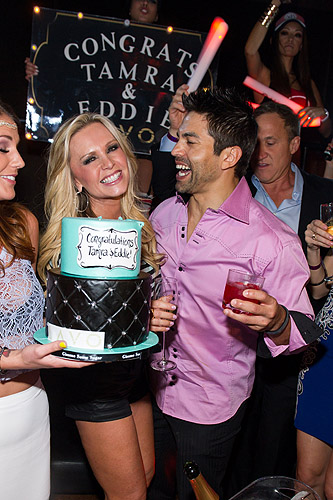 Tamra Barney and Eddie Judge Cake at LAVO