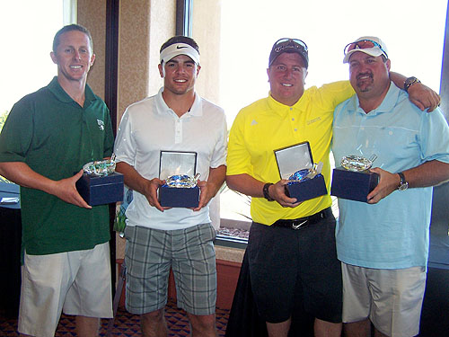 First Place team for 2013 CSN Golf Tournament l-r Gary Jaramillo Eric Fitzsimmons Chuck Jaramillo and Don Barris