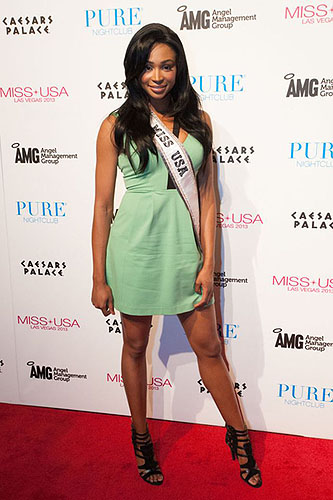Nana Meriwether Miss USA Red Carpet PURE Nightclub