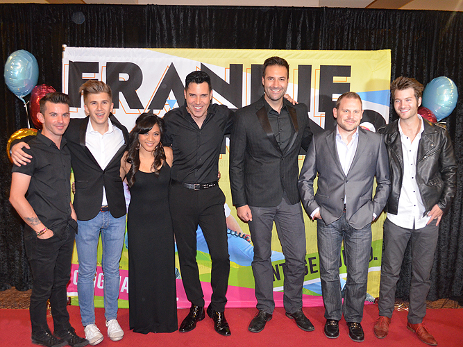 Frankie Moreno with Band Members 500th Performance Stratosphere 52803