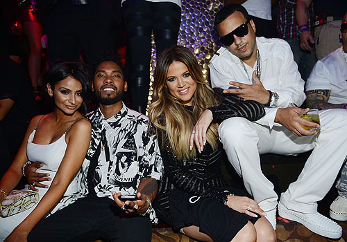 Nazanin Mandi Miguel Khloe Kardashian and French Montana at TAO