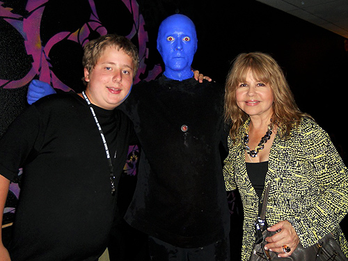 8.7.13 Pia Zadora at Blue Man Group in Monte Carlo Resort and Casino