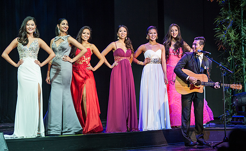 Musician Daniel Park Performs during Evening Gown Segment