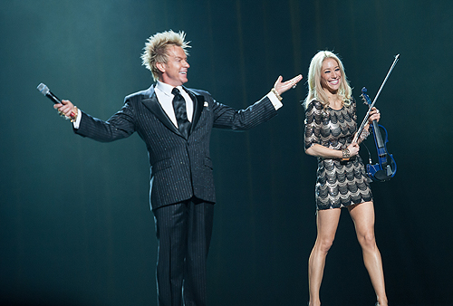 Zowie Bowie and Lydia Ansel Entertain during Pageant