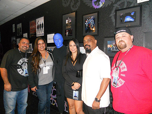 10.3.14 Luciano Aguilar and Sen Dog with family and friends at Blue Man Group at Monte Carlo Resort and Casino