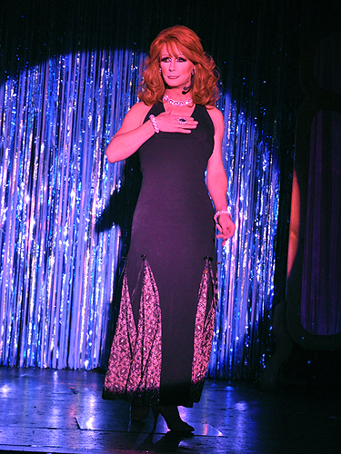Reba McEntire impersonator at An Evening at La Cage in the Four Queens