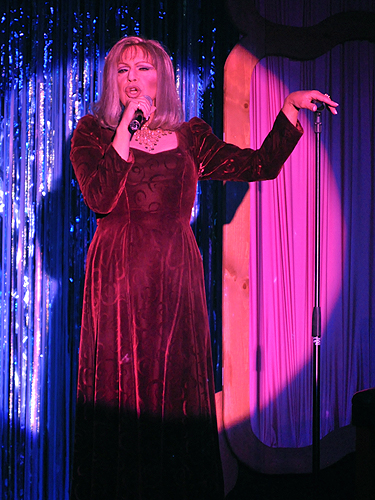 Barbra Streisand impersonator at An Evening at La Cage in the Four Queens