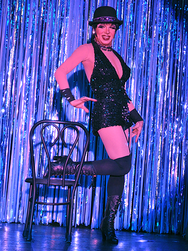 Liza Minnelli impersonator at An Evening at La Cage in the Four Queens