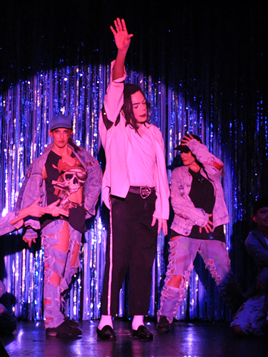 Michael Jackson impersonator at An Evening at La Cage in the Four Queens