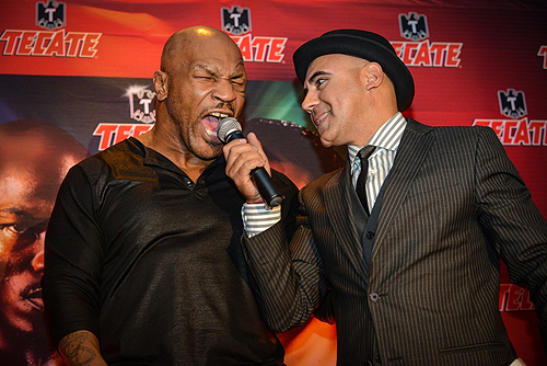 Mike Tyson with announcer
