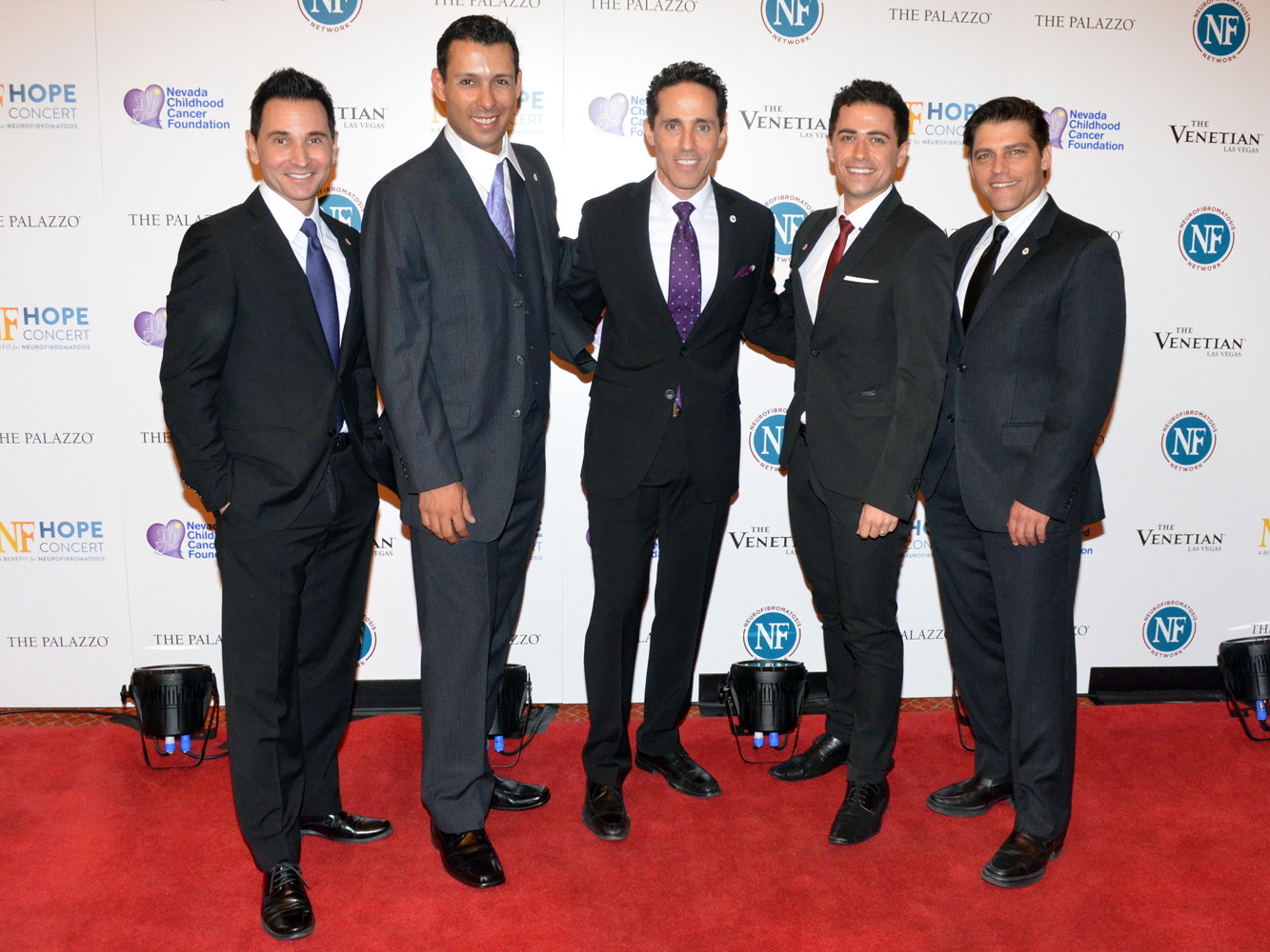 Jersey Boys Travis Cloer Buck Hujabe Jeff Leibow Graham Fenton Deven May NF Hope Concert 61217