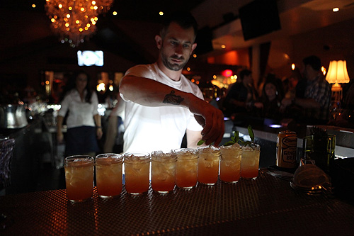 Bartender Serving Whists Signature Cocktails