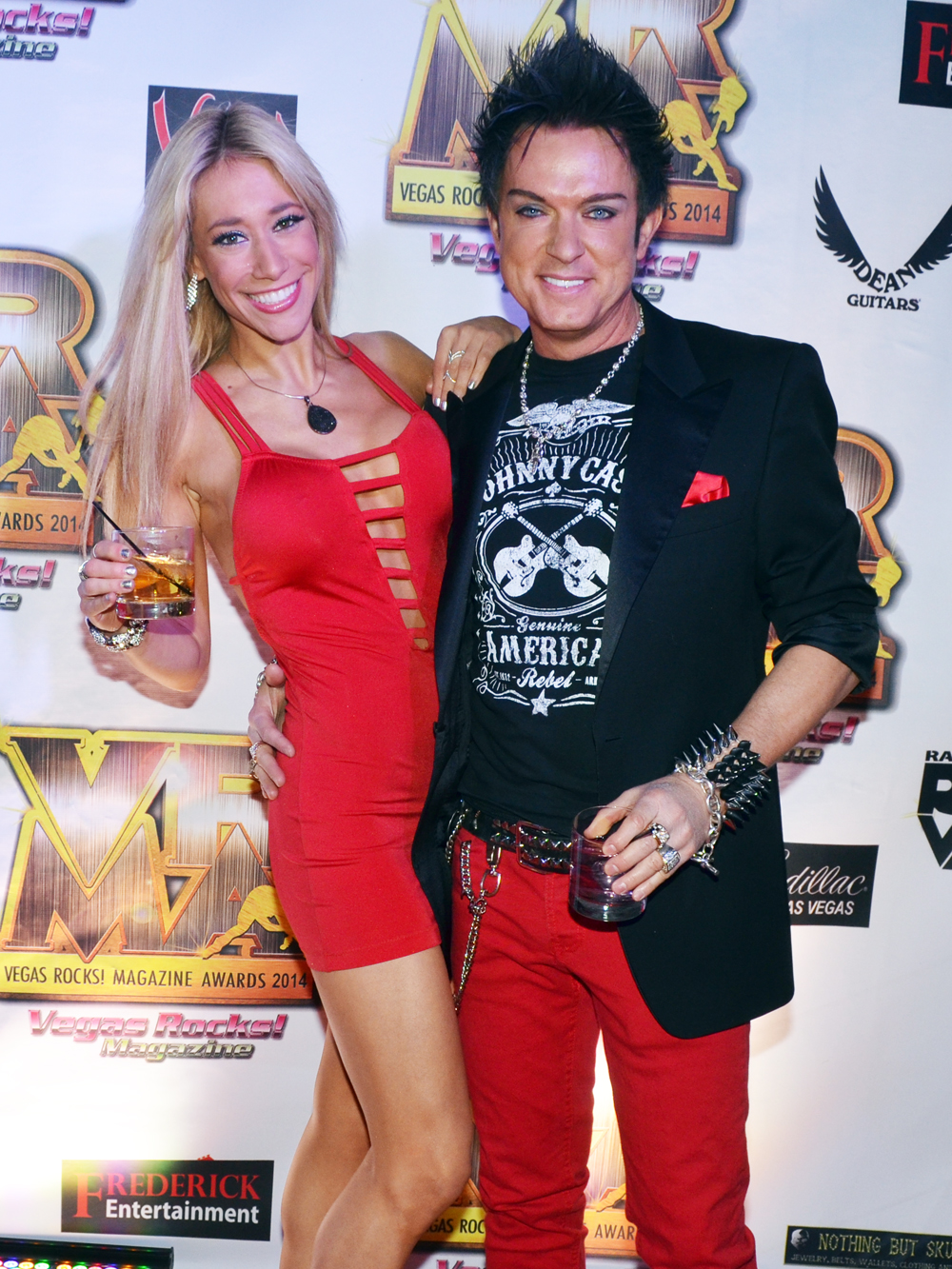 Lydia Ansel Chris Phillips of Zowie Bowie - Vegas Rocks Magazine Music Awards 2014 photo credit Stephen Thorburn 63713