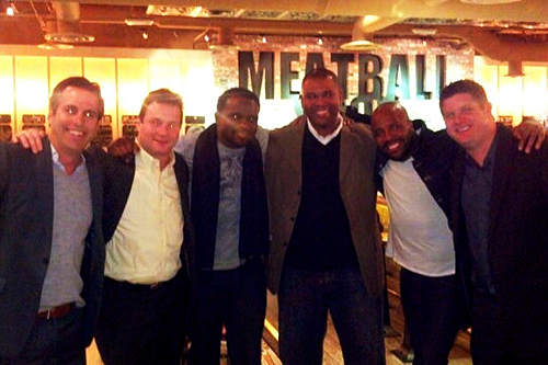 Darius McCrary and friends at Meatball Spot