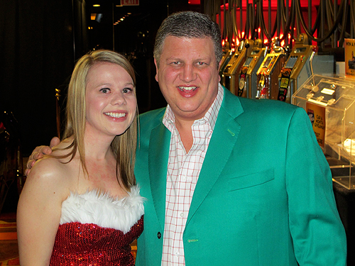 Jessica Roadhouse with Co-Owner Derek Stevens Golden Gate Hotel and Casino Las Vegas