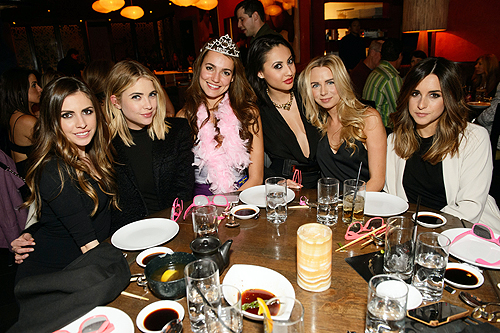 Francia Raisa Ashley Benson celebrate the bachelorette party of a friend at TAO Las Vegas