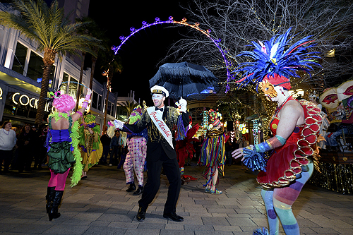 Mardi Gras Celebrations at The LINQ Credit BRYAN STEFFY
