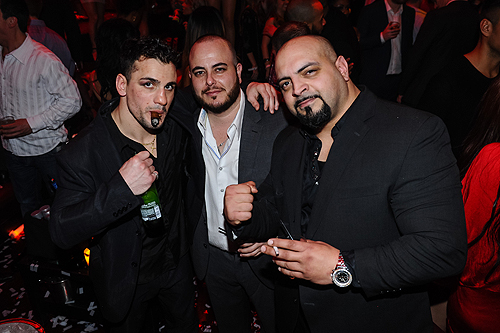 Boxer Phil Lo Greco with friends at TAO