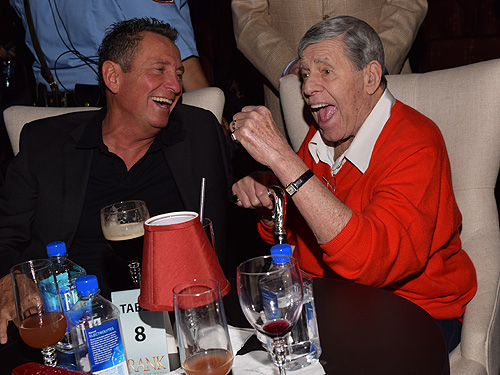 Bob Anderson and Jerry Lewis at FRANK - The Man. The Music. Courtesy - The Palazzo Las Vegas