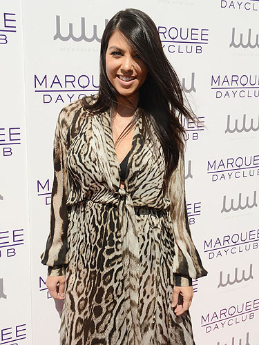 Kourtney Kardashian Marquee Dayclub red carpet