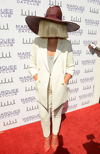 Sia Marquee Dayclub red carpet